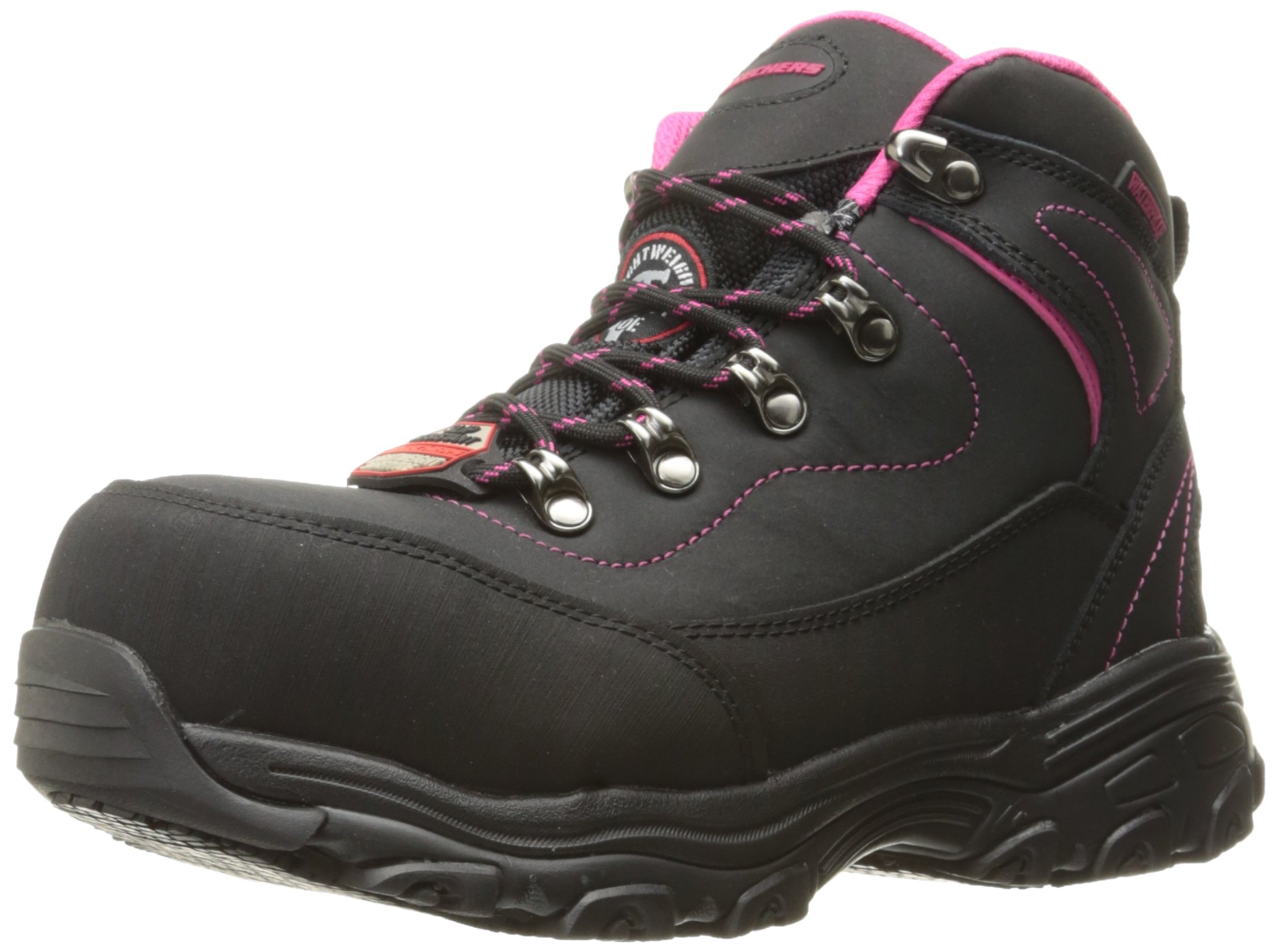 Skechers Women's D Lite Amasa Work Boot,Black,10 M US by Skechers
