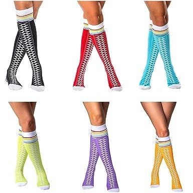 06ab92ae1 Crazy Socks for Women Knee High Socks   Long Socks for Women   6 Pair All