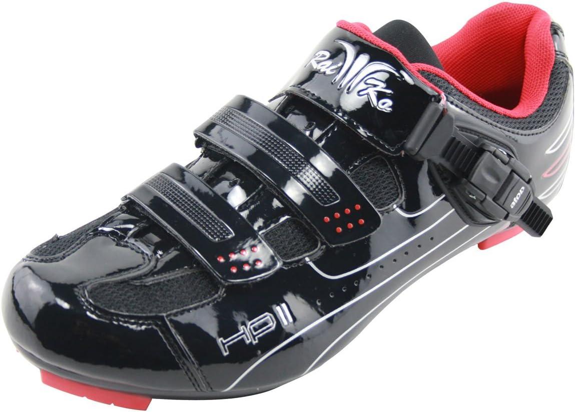 Steife Sohle f/ür sehr Gute Kraft/übertragung Ratschen-//Klettverschluss Raiko Sportswear HP2 Rennradschuhe SPD-SL//Look Klickpedale