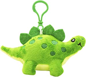 Scentco Dino Dudes Backpack Buddies - Scented Plush Toy Dinosaur Clips - Stegosaurus Green Apple