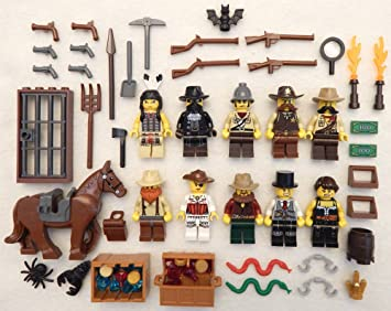 10 NEW LEGO COWBOY /& INDIAN MINIFIG LOT wild west figures guys minifigures set