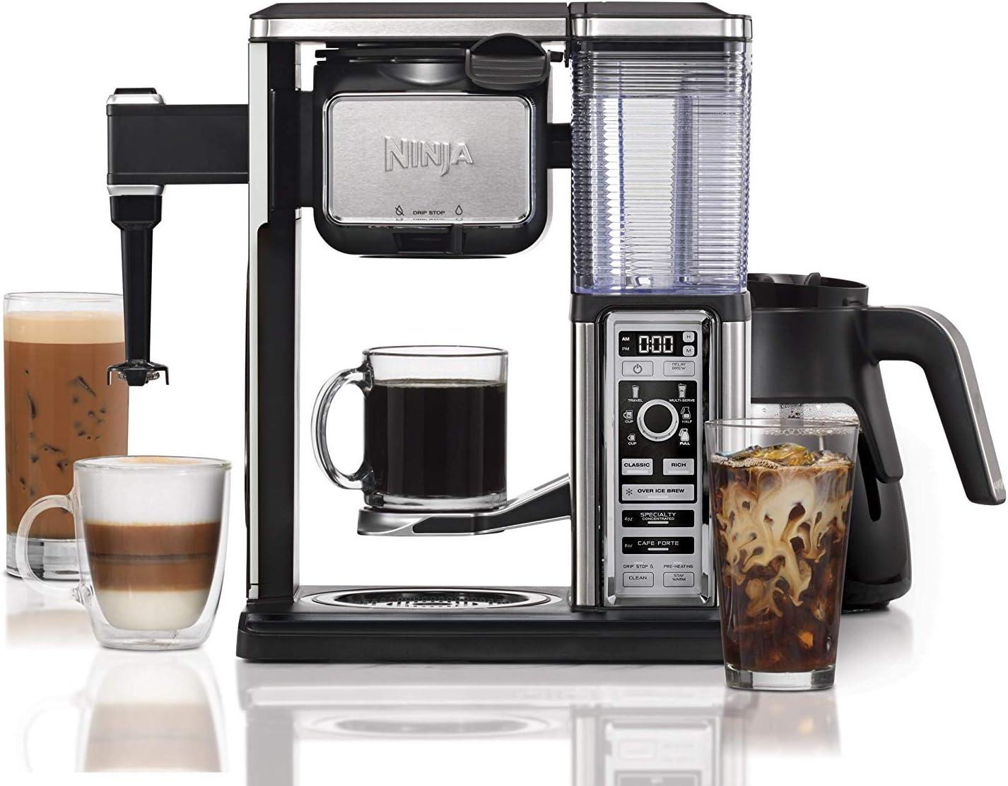 B077SDTCD5 Ninja CF091 Coffee Bar, Black/Silver (Renewed) 71XRoqfCf9L.SL1500_