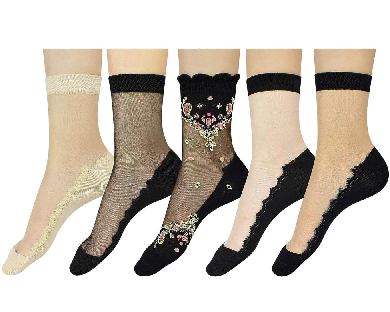 Damen Fischnetz Socks Damensocken Fishnet·Socken Mesh Lace Ankle Socks Neue