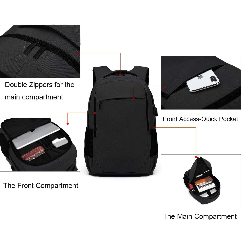 378b653fb Antirrobo Mochila para Portátil, Impermeable Bolsa Mochilas para Ordenador  15.6 Pulgadas con Puerto de Carga USB ...