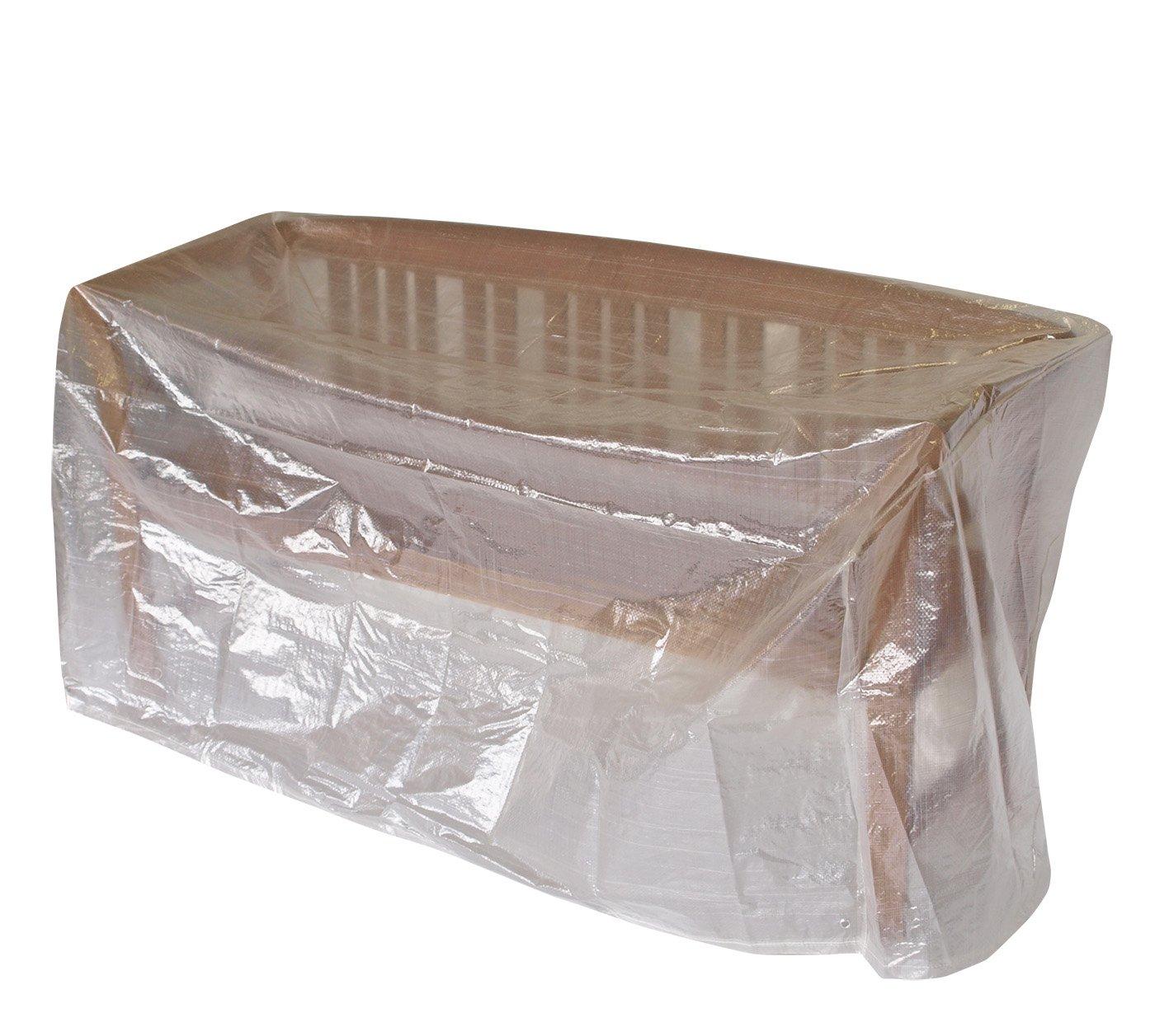 Amazon.de: Abdeckhaube Bank 2-sitzer 134cm, PE transparent