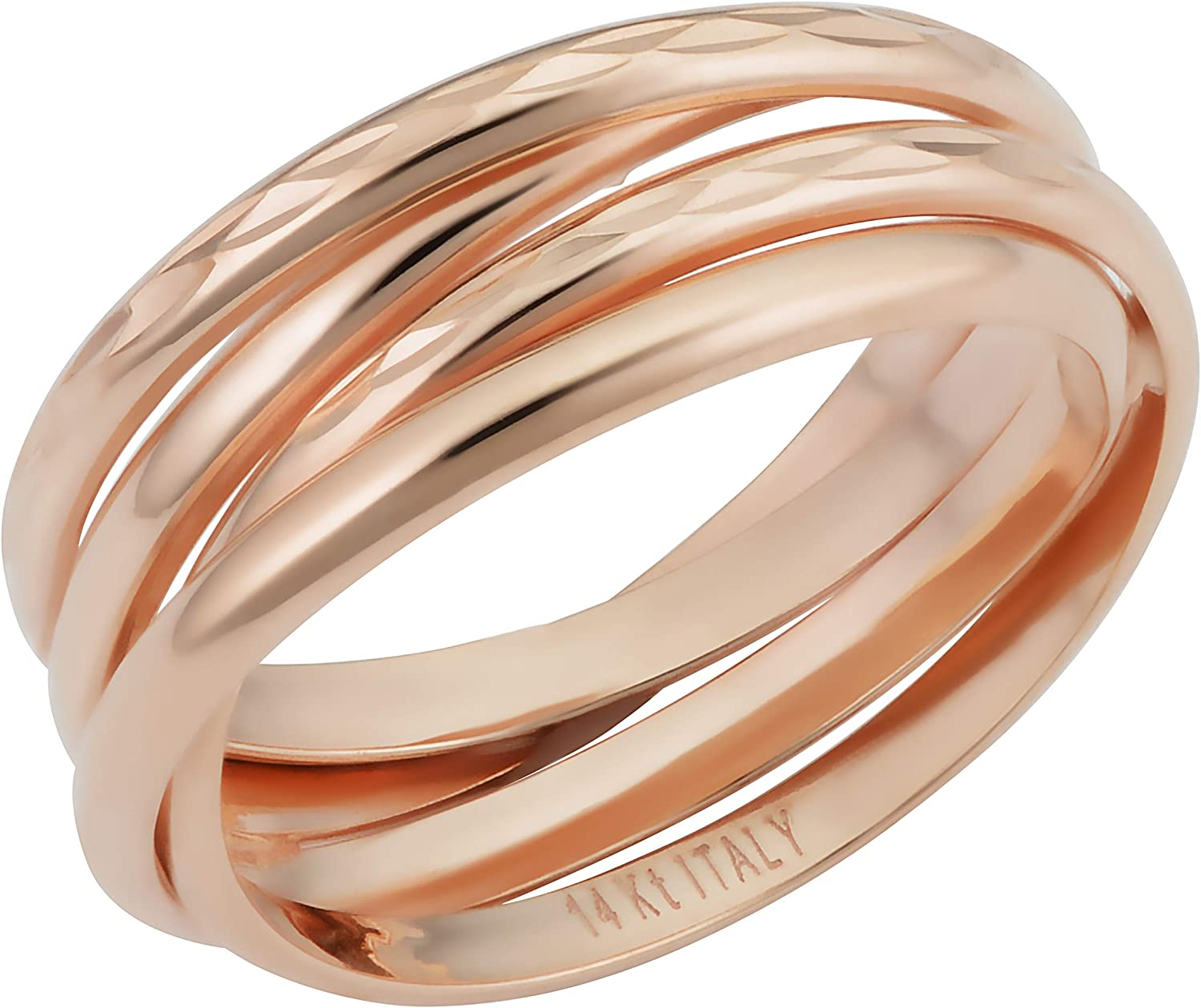 Size 7.5 Gold Tone Copper Wire Ring