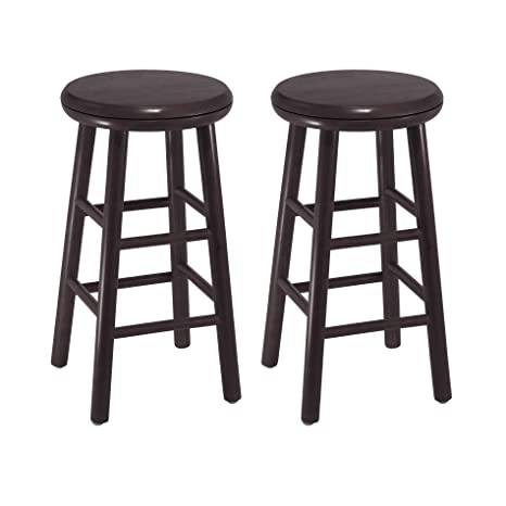 Fine Winsome Wood 24 Inch Swivel Bar Stools Dark Espresso Finish Beatyapartments Chair Design Images Beatyapartmentscom