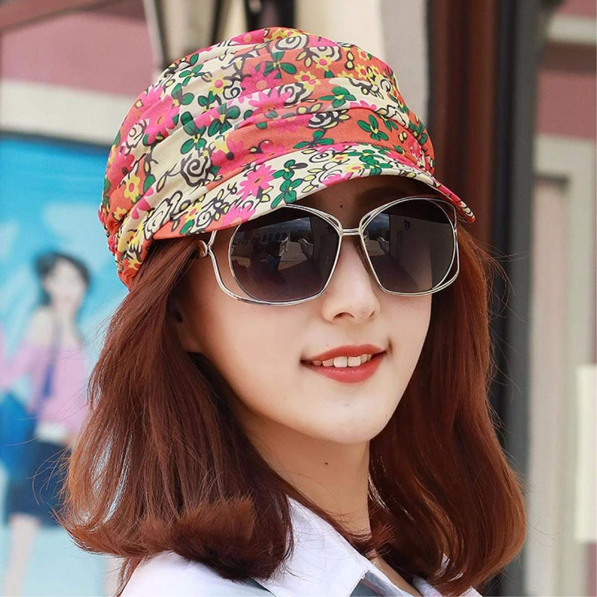 K BRNEBN Hat female spring and summer cap flat top hat visor beach hat sun cap out of play.