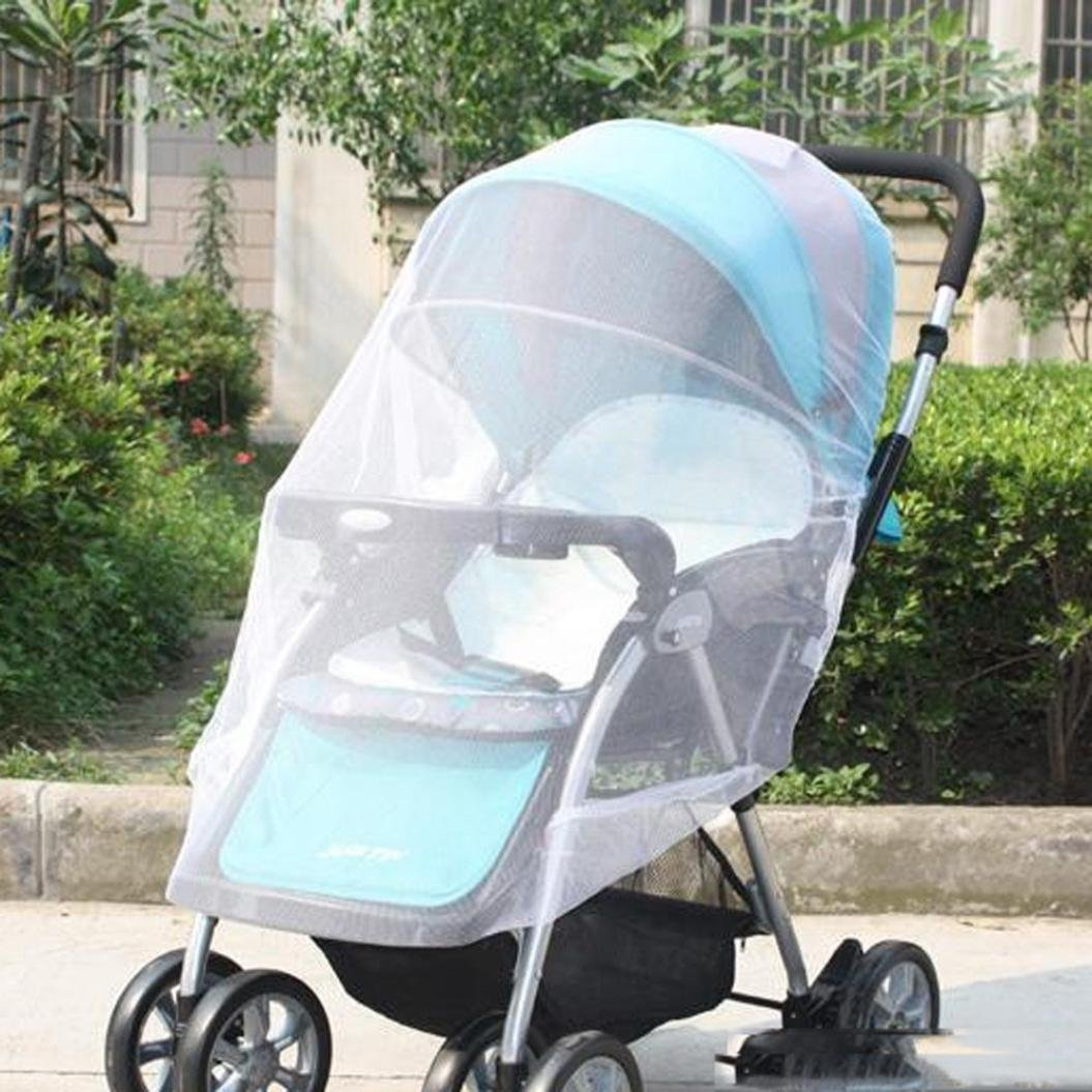 Hot Sale! Hongxin Baby Stroller Pushchair Mosquito Insect Shield Net Safe Infants Protection Mesh Stroller Accessories Mosquito Net 150cm Foldable Kids Netting Clearance (White)