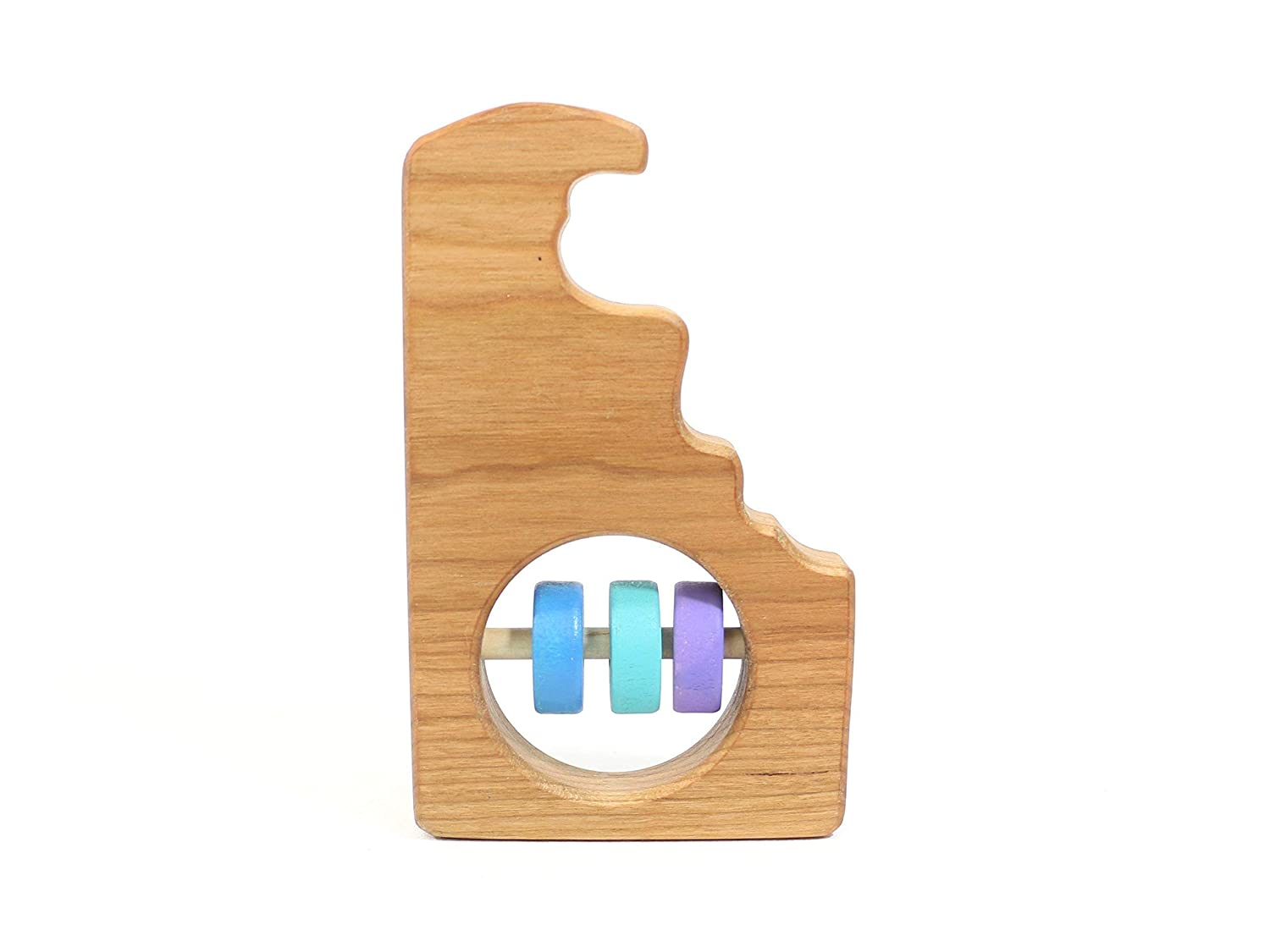 Delaware State Wooden Baby Rattle /™