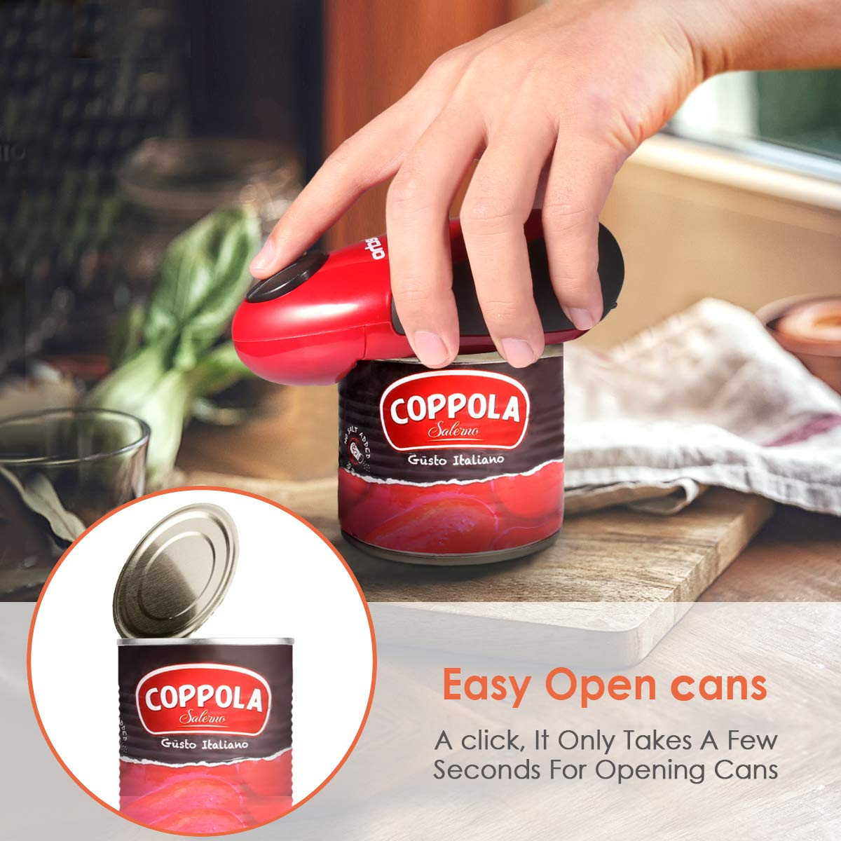 One Touch Can Opener Chefs Best Choice Automatic Hands Free Can Opener Restaurant Can Opener Electric Can Opener Full