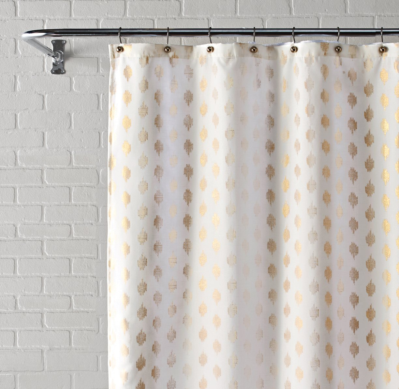 Amazon Metallic Ikat Dou Fabric Shower Curtain Home Kitchen