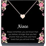 Niece Necklace Niece Christmas Present Gift for Niece from Aunt To My Niece You Are Braver Than You Believe Giraffe Necklace