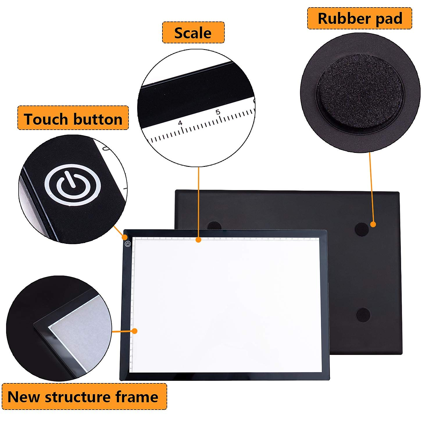 HOKONE LED Light Box Tracer A3//A4 Ultra-Thin Portable,Artcraft Tracing Light Box with USB Power Cable Dimmable Brightness.Light Pad Copy Board for Artists Drawing//Sketching//Animation//Stencilling X