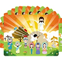 Make an Easter He Lives Sticker Scenes Resurrection Stickers 12 Sets for Kids Indoor Bible Games Activities