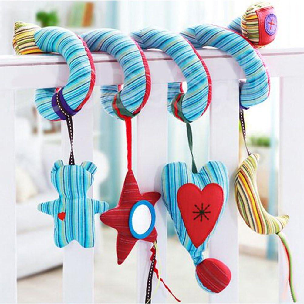 TOYANDONA Cuna cuna juguete seguro espejo dibujar animal sonar campana enseñar carrito bebézanahoria juguete