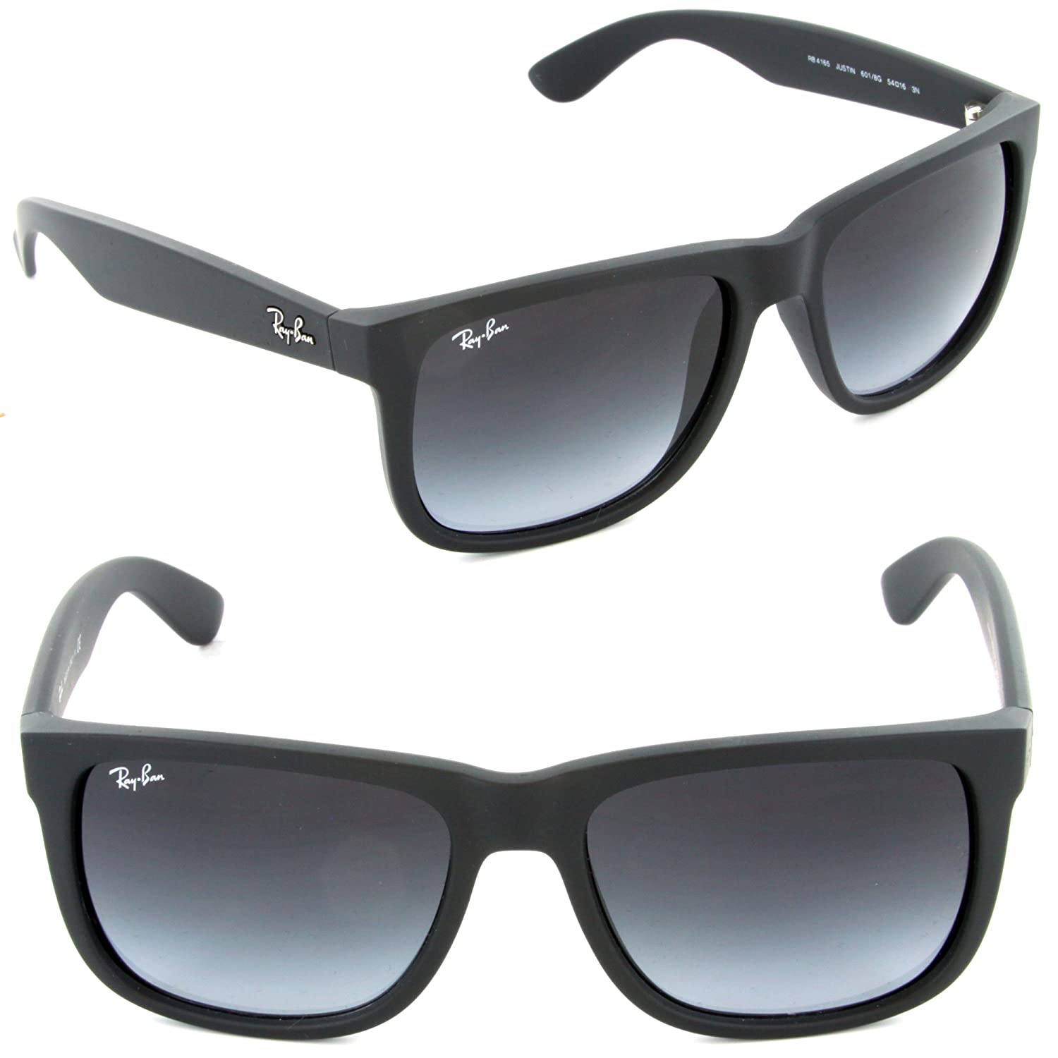 c76a1ae486128 Amazon.com   Ray-ban Rb4165 Justin 601 8g Black Frame Unisex Sunglasses  Gray Gradient Lens 51mm   Everything Else