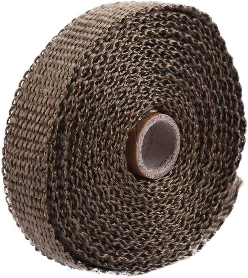 Fydun Banda di protezione termica per tubo di scarico 5 m nero