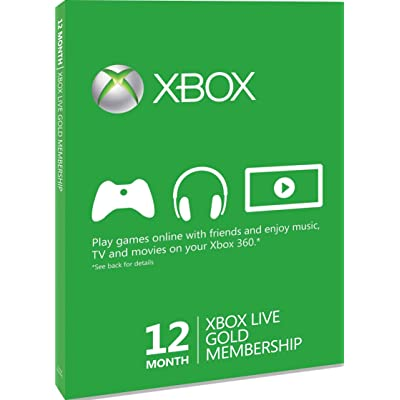 [Import Anglais]XBOX LIVE Gold 12 Months Membership Card XBOX 360