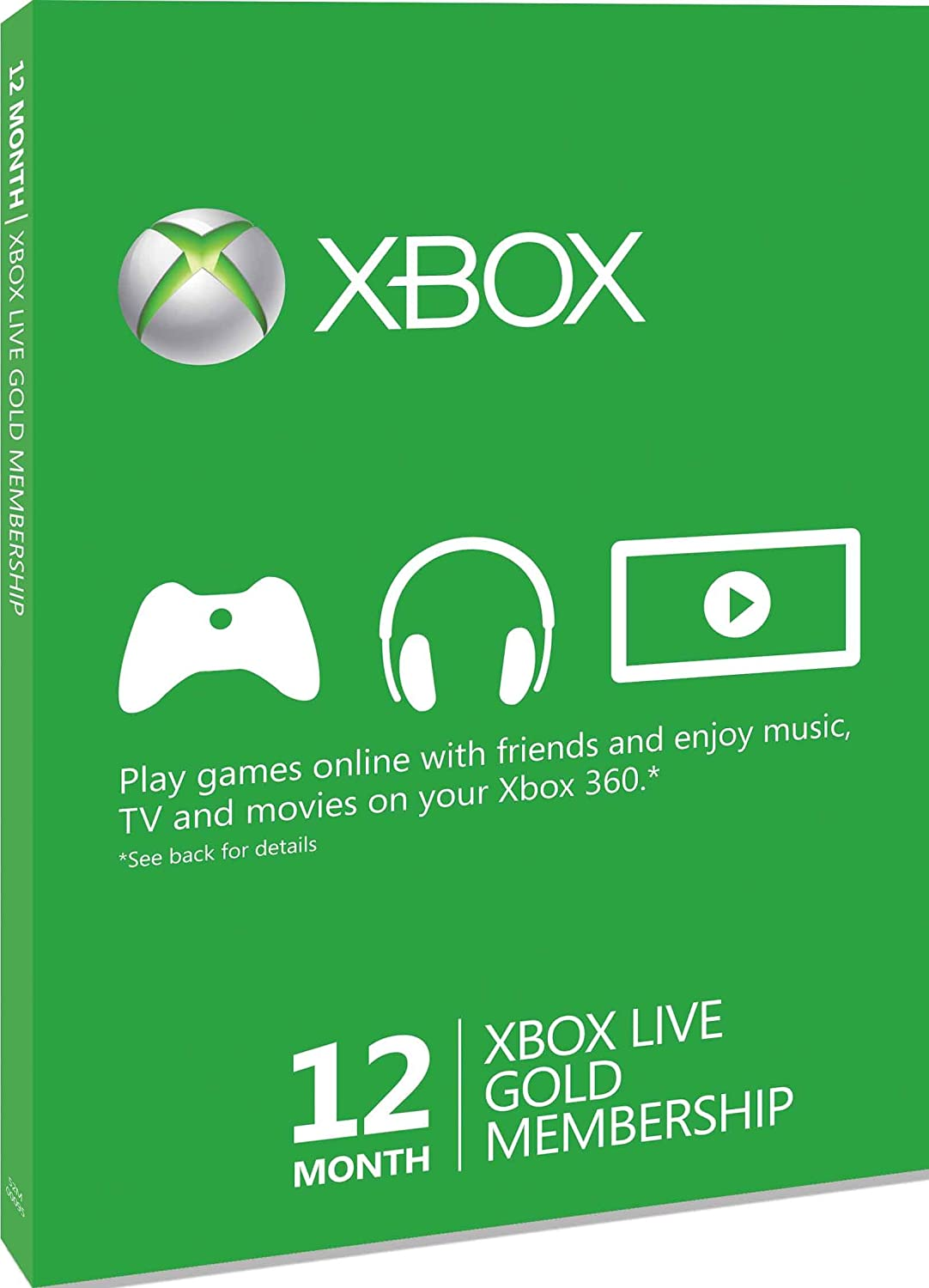 Import Anglais]XBOX LIVE Gold 12 Months Membership Card XBOX ...