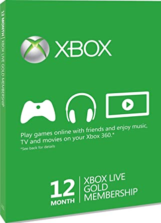 Xbox LIVE Gold 12-Month Membership Card (Xbox One/360