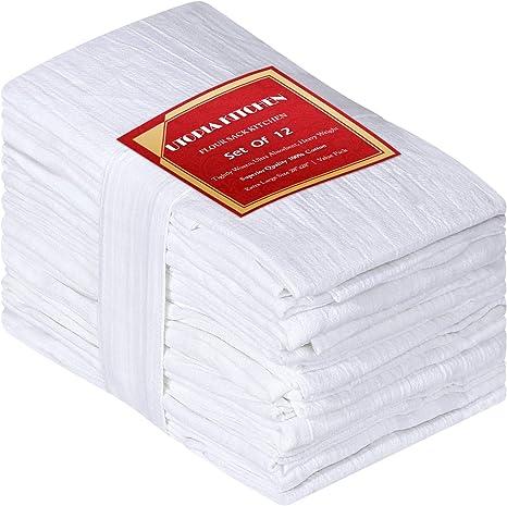Sartenes de harina (12 paquetes - 71 x 71 centímetros) Toallas de ...