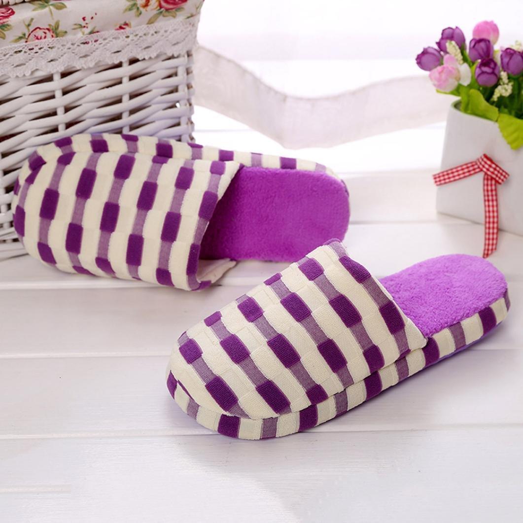 Pantuflas cuadradas I de Color Longra algodón AR34L5j