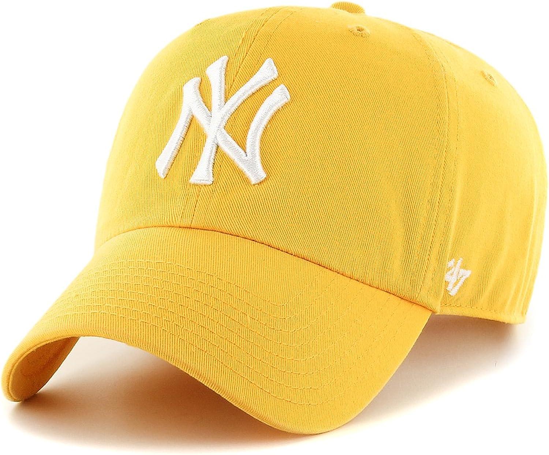 Gorra visera curva amarilla con logo frontal grande de MLB New ...