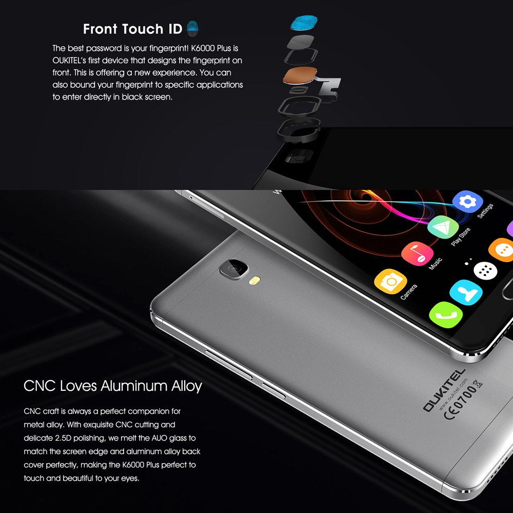 Amazon.com: OUKITEL K6000 Plus 4 G 5.5 inches 4 GB RAM + ROM ...