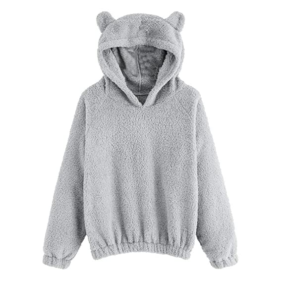 Amazon.com: CCSDR Sweatshirts for Women Fleece Warm Hoodies Bear Shape Pullover Tops: Sports & Outdoors