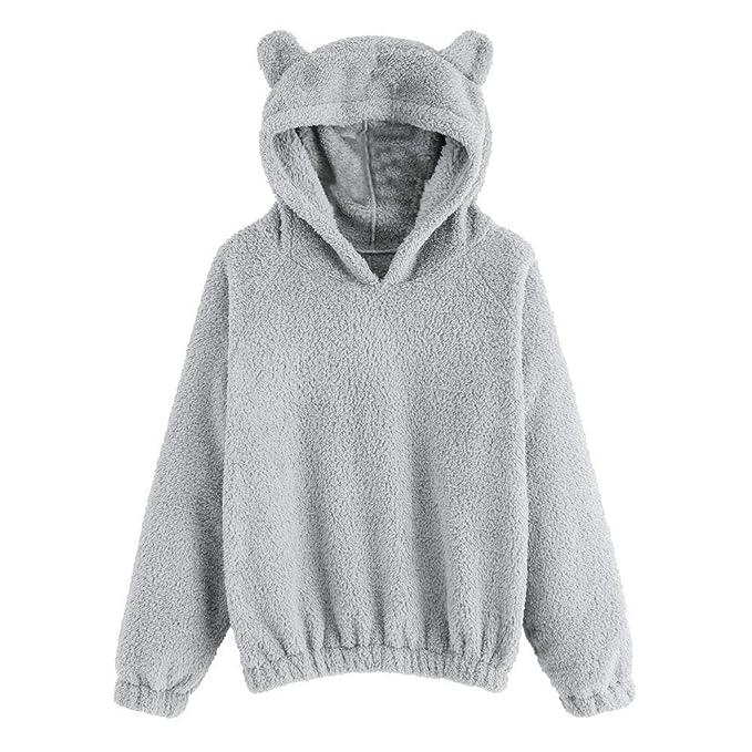 Logobeing Chaqueta Suéter Abrigo Jersey Mujer Originales Sudadera de Lana de Manga Larga para Mujer con