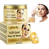 Gold Facial Mask, Peel off Mask, Blackhead Remover Mask, Anti-Aging, Deep Cleansing Blackhead & Acne Scars, Dirt & Oil, Repai
