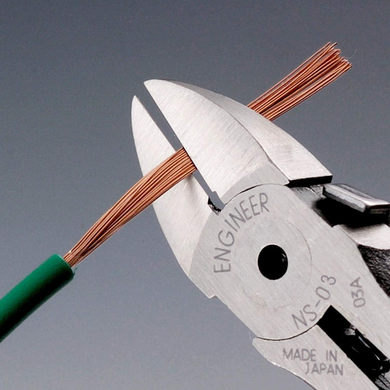 Engineer Ns-03 Pince coupante de c/ôt/é de qualit/é pro PCB c/ôt/é Cisaille avec m/âchoires en acier carbone renforc/é