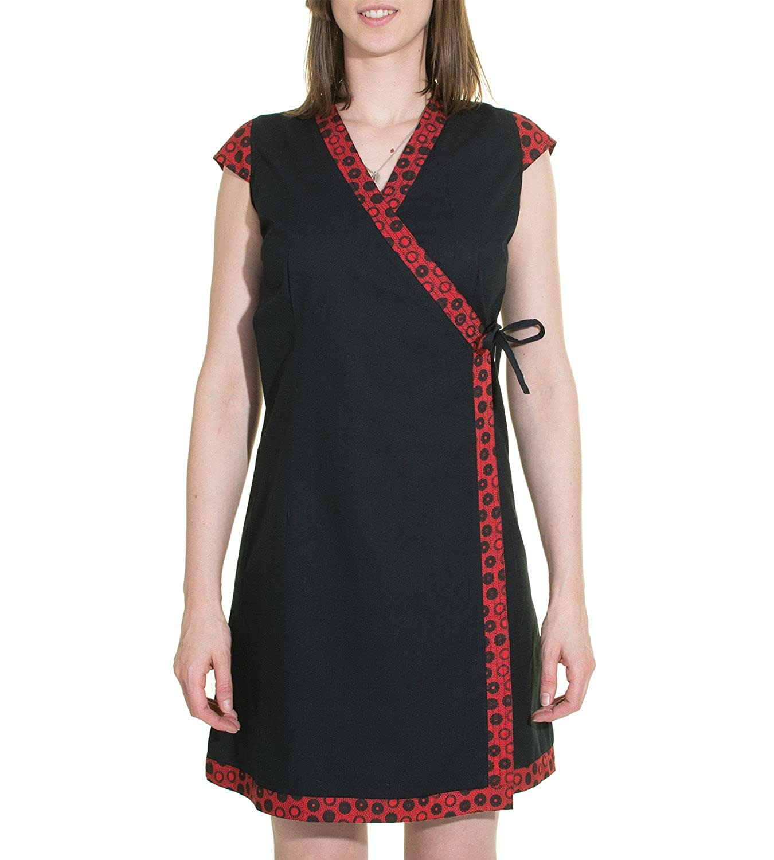 Wickelkleid Tibet Minikleid Tunika Hippie Goa Sommerkleid extravagant