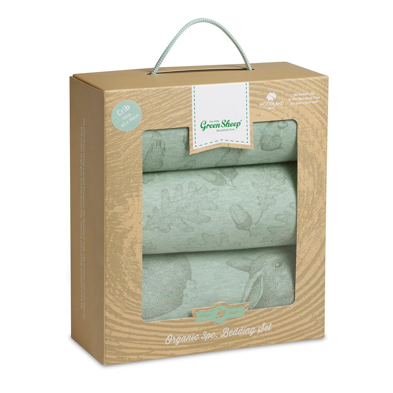La Little Green oveja Wild algodón orgánico juego de ropa de cama para cuna (conejo): Amazon.es: Bebé