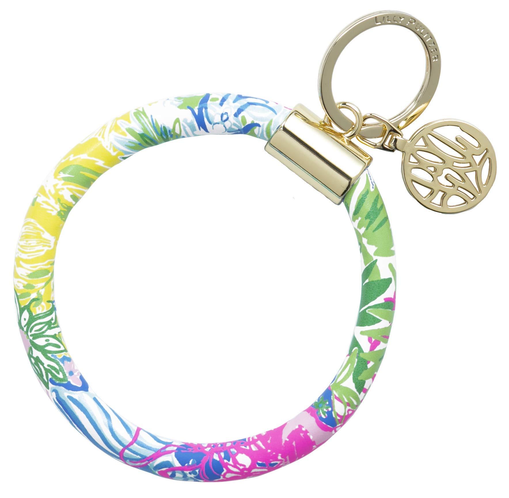 Lilly Pulitzer Bracelet Key Ring Chain, Cheek to Cheek