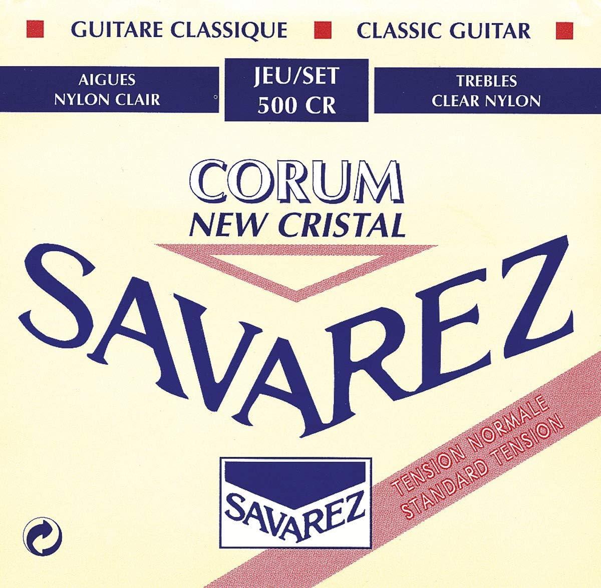 Savarez 500CR - Cuerdas para Guitarra Clásica, pack de 6
