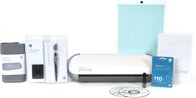 Silhouette - Kit básico de colección de Recortes con Cortador, Color Blanco: Amazon.es: Hogar