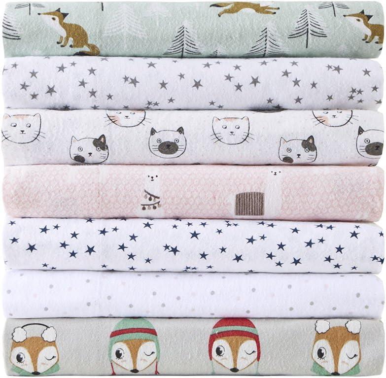 Intelligent Design Cozy 100% Cotton Flannel Novelty Print Animals Cute Warm Ultra Soft Cold Weather Sheet Set Bedding, Full Size, Blue Stars 4 Piece
