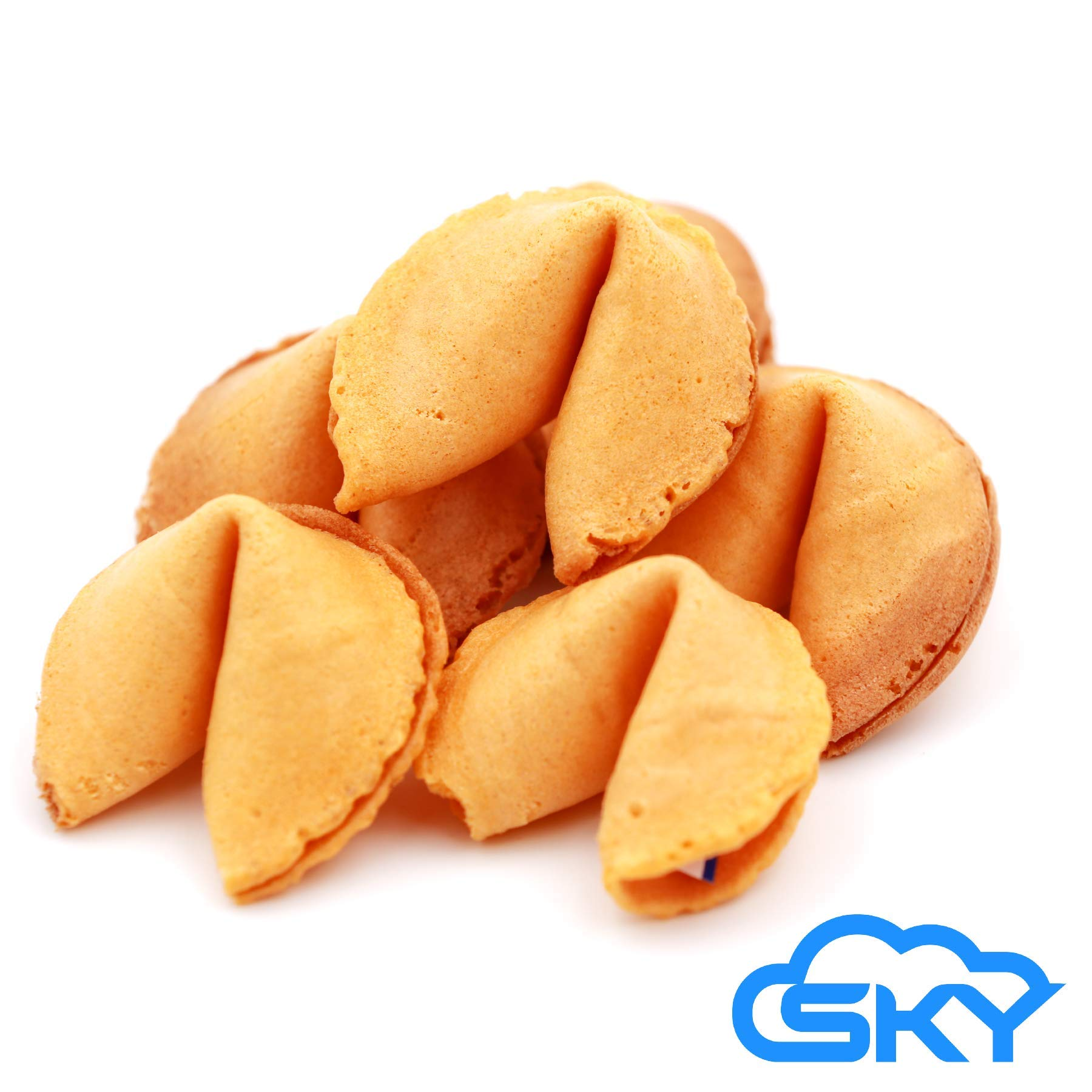 Sky Premium and Fresh Fortune Cookies Individually Wrapped, Bulk 100 Pcs, Perfect for Snacks, Lunch, Picnic, Birthdays, Graduation, Parties | Product of USA by Sky Ecommerce (Image #1)