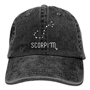 5446a918 Amazon.com : Zodiac Troll Scorpio Unisex Denim Bucket Hat Ultimate ...