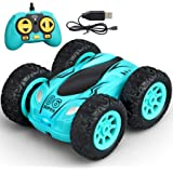 Meryi Mini Stunt RC Cars Toy, 4WD 2.4Ghz Remote Control Car Double Sided Rotating Vehicles, Kids Toy for Boys & Girls…