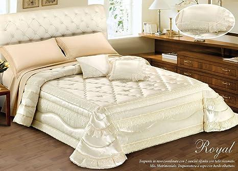 Costo Lavaggio Piumone Matrimoniale.Trapunta Invernale Fantasia Royal Matrimoniale Beige Amazon It