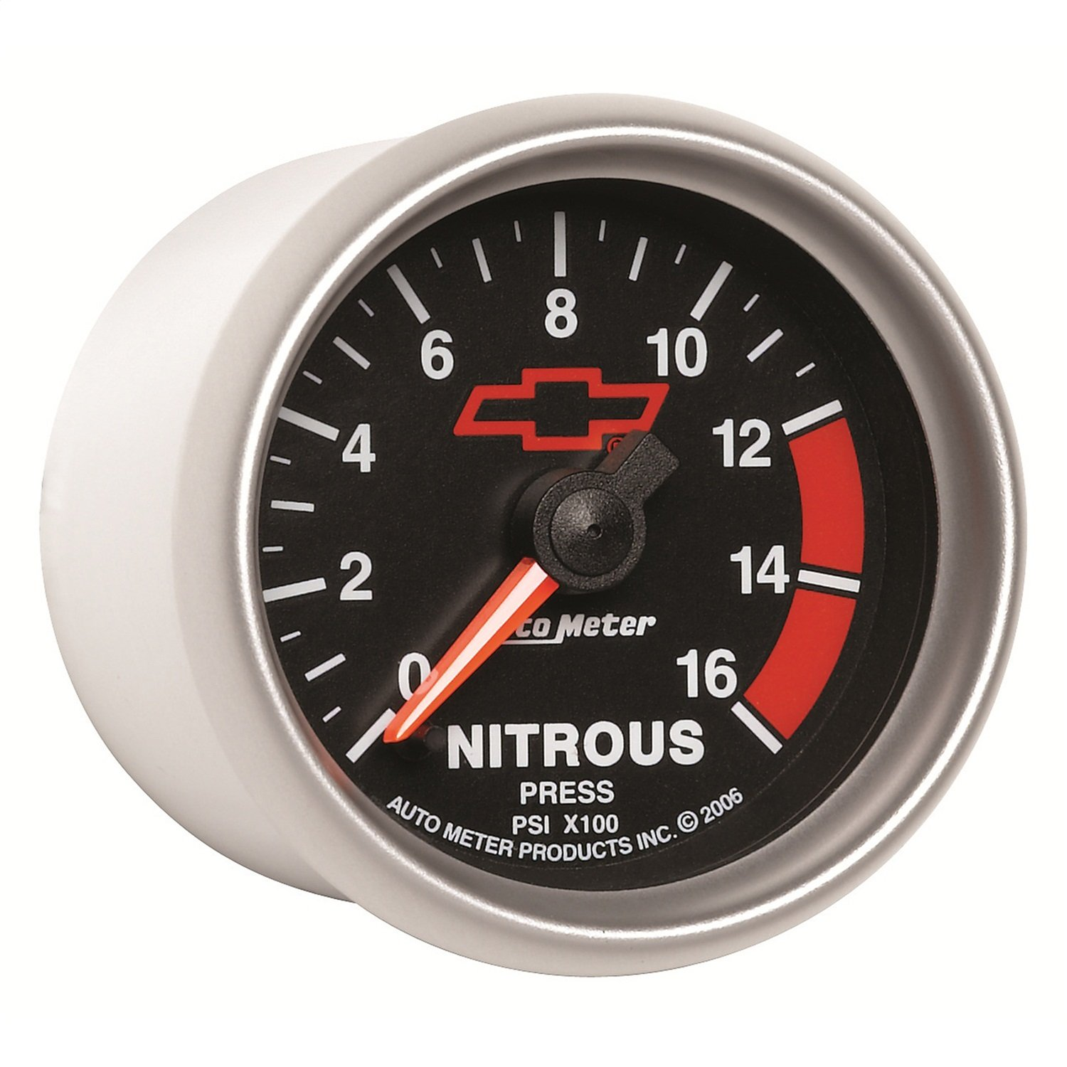 Auto Meter 3674-00406 GM Performance Parts 2-1/16'' 0-1600 PSI Full Sweep Electric Nitrous Pressure Gauge by AUTO METER