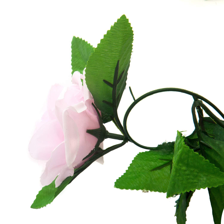 Rose Pauwer 2pcs Guirlande de Fleurs Artificielles Guirlande /à Suspendre Vignes pour D/écoration Maison Jardin Mariage Fenetre 1,65 m Chaque M/èche