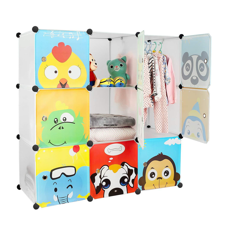 Zapatero infantil modular formado por 9 cubos