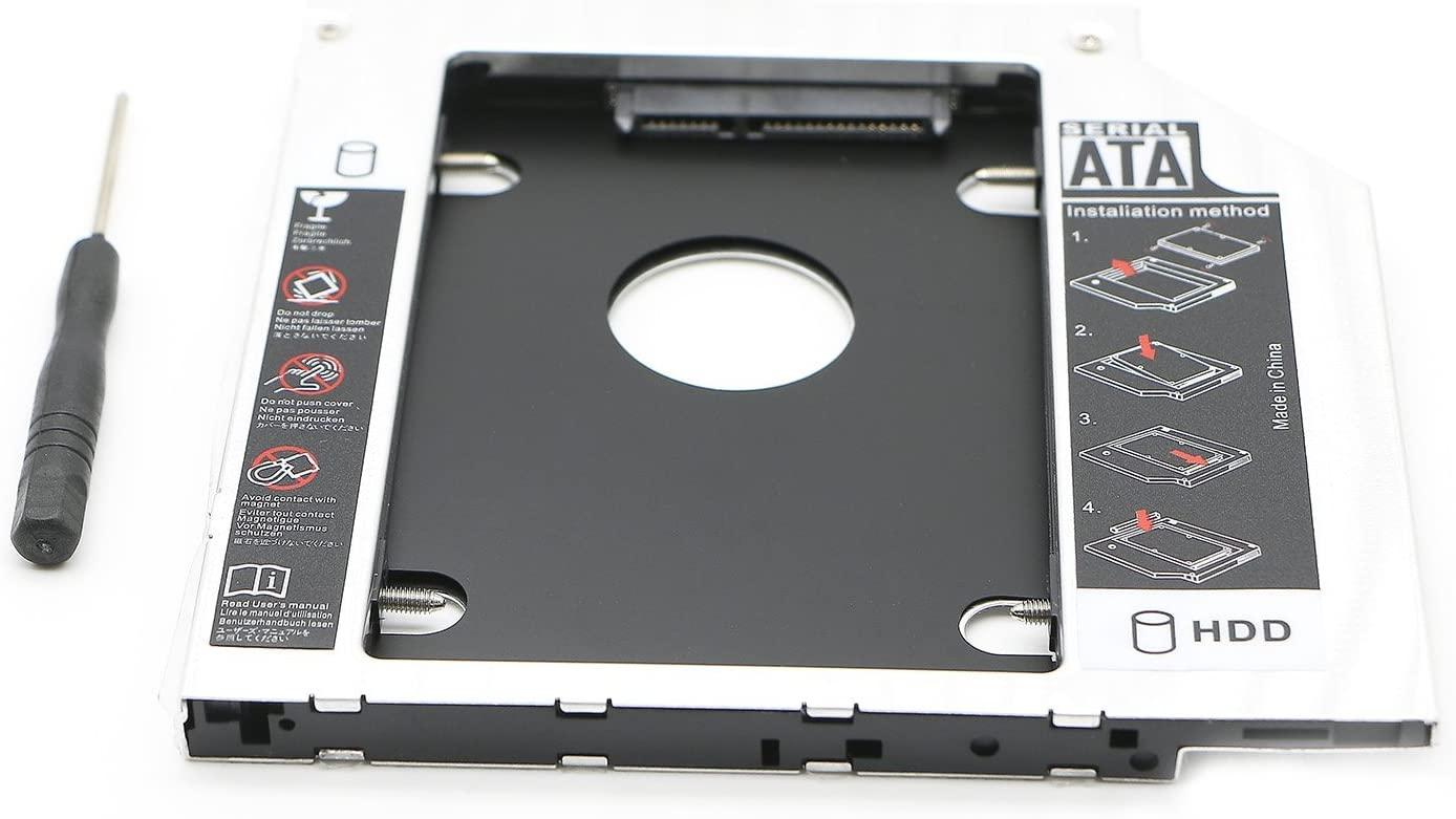 """PASOW SATA 2.5"""" / 9.5mm 2nd Hard Disk Drive Caddy Adapter Special Designed for Apple MacBook pro (13,15,17) SuperDrive MB466LL/A MB207LL/A MB470LL/A MB226LL/A MB724LL/A MB375LL/A"""