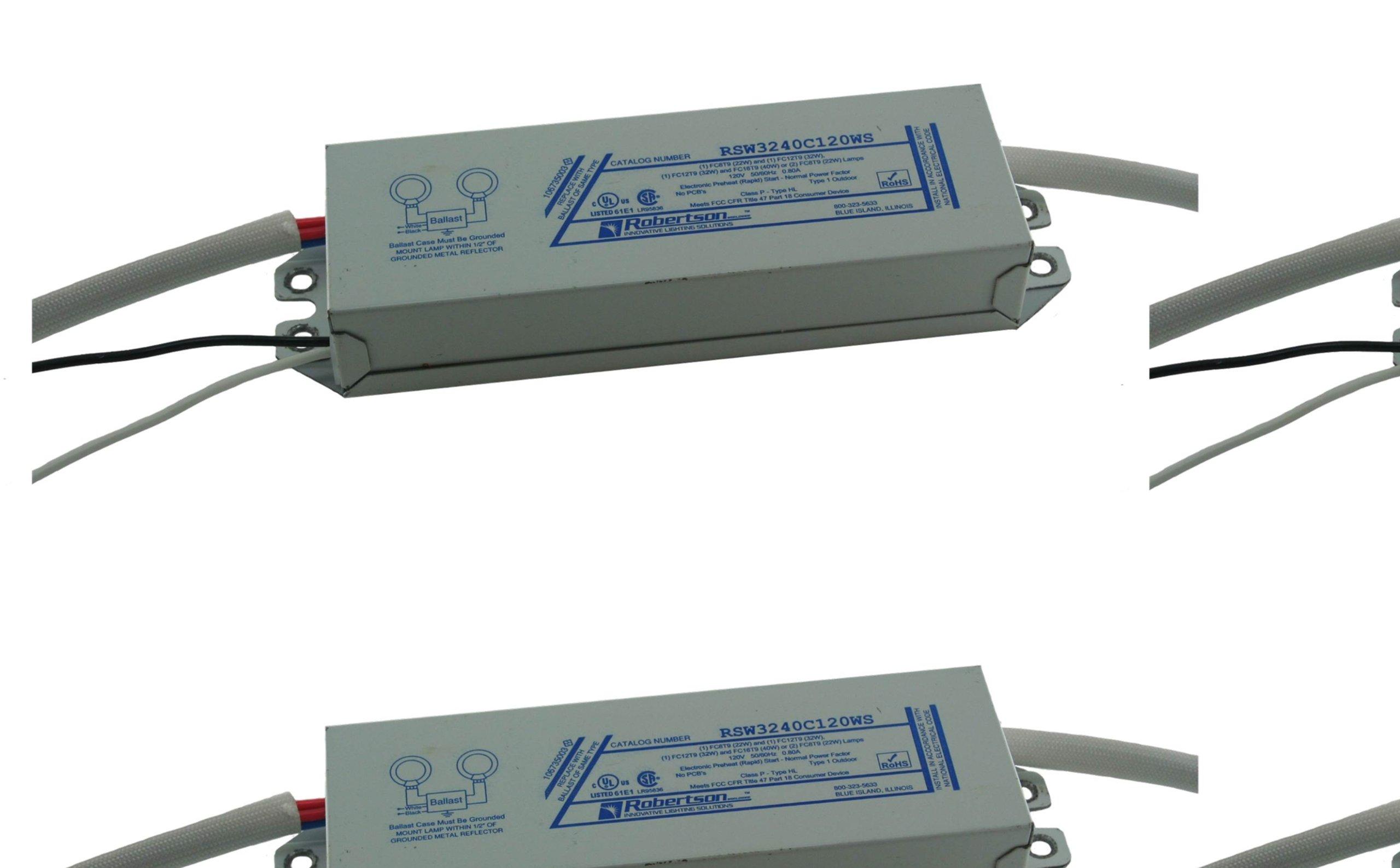 ROBERTSON 1P20134 OEM-Pak of 20 Fluorescent eBallast, 2 FC8T9 Circline Lamp Preheat-Rapid Start, 120Vac, 50-60Hz, Normal Ballast Factor, NPF, Model RSW3240C120WS AA (Replaces Model RSW3240C120WS /A)