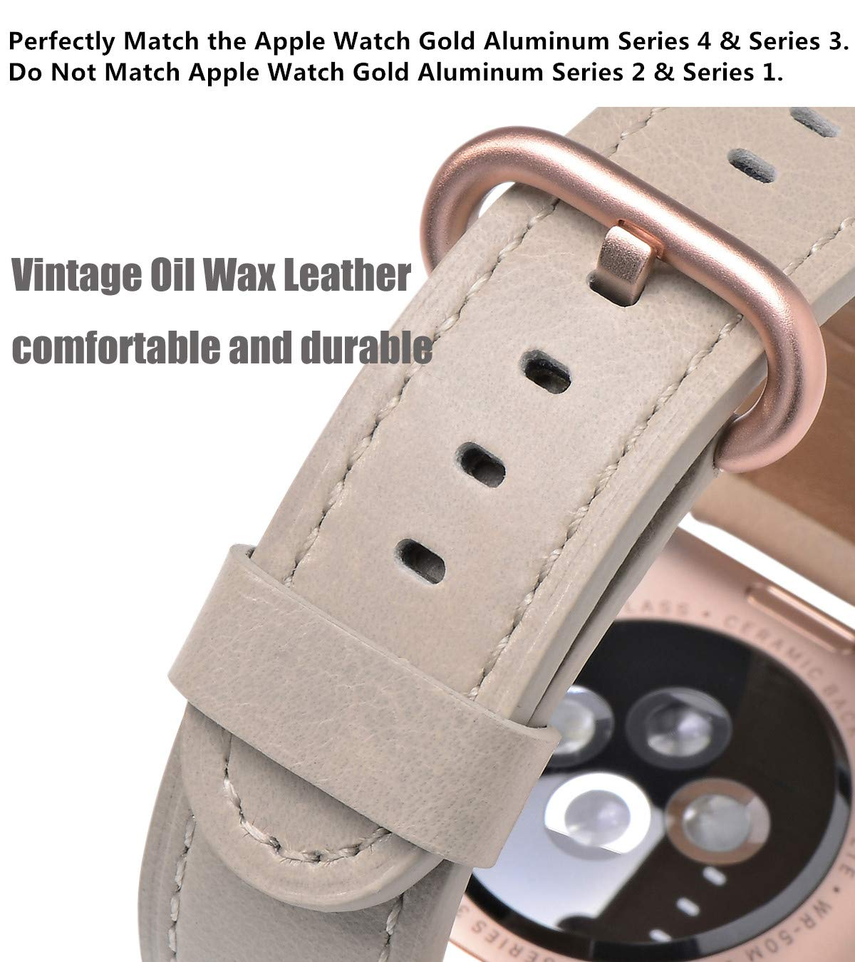 83a00ad3ff2f Amazon.com  JSGJMY Compatible for Iwatch Band 38mm 40mm S M Women Genuine  Leather Loop Replacement Strap Compatible for iWatch Series 4 (40mm) Series  3 2 1 ...