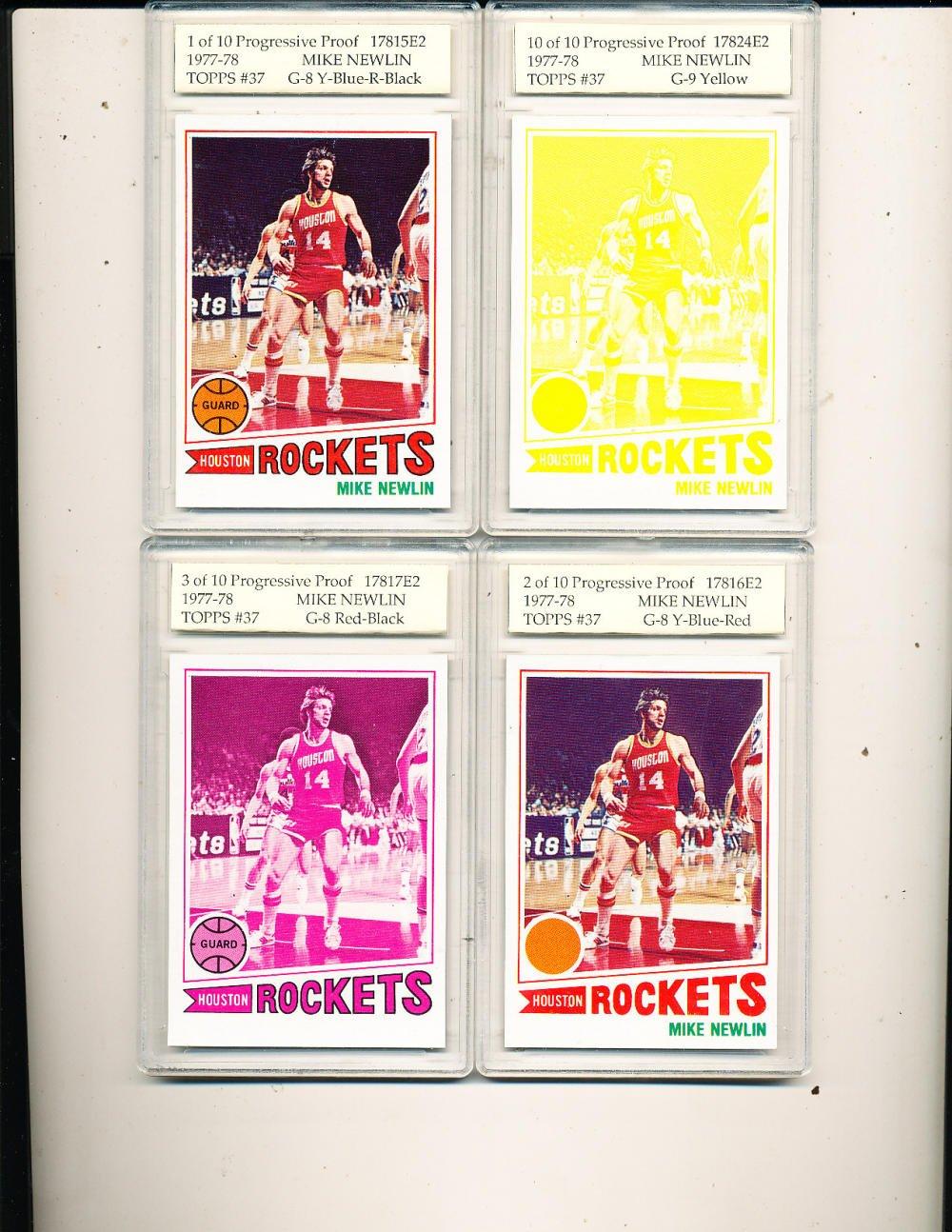 1977 topps basketball card Mike Newlin Houston Rockets 10